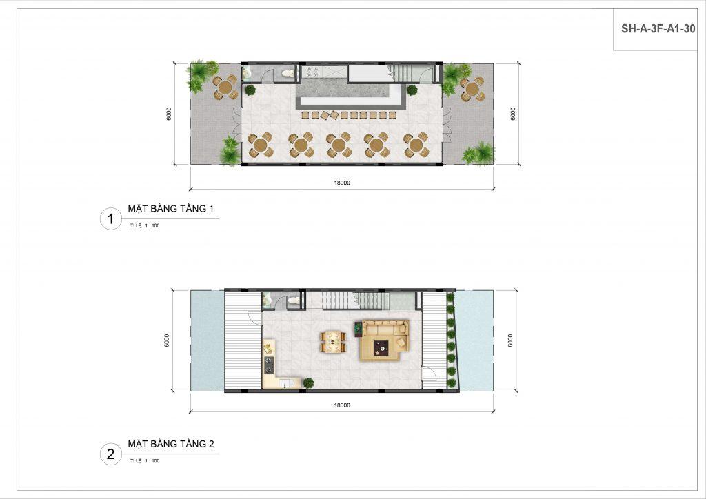 Nhà Phố Biển Thanh Long Bay MB BT Tầng 1 2