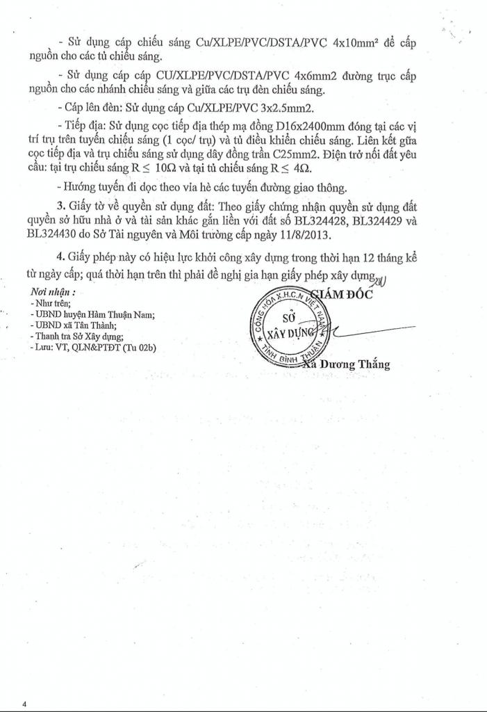 hồ sơ pháp lý dự án Thanh Long Bay - Giấy phép xây dựng hạ tầng 004