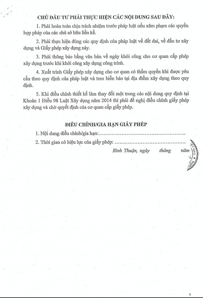 hồ sơ pháp lý dự án Thanh Long Bay - Giấy phép xây dựng hạ tầng 005