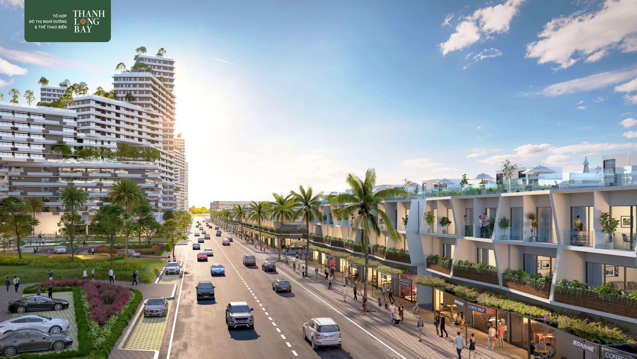 Tiến độ xây dựng Thanh Long Bay phối cảnh căn hộ và nhà phố