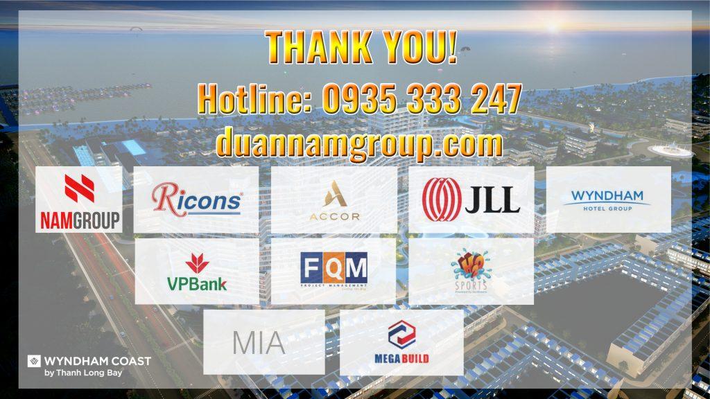 Tiến độ xây dựng Thanh Long Bay - Các thương hiệu đồng hành cùng dự án