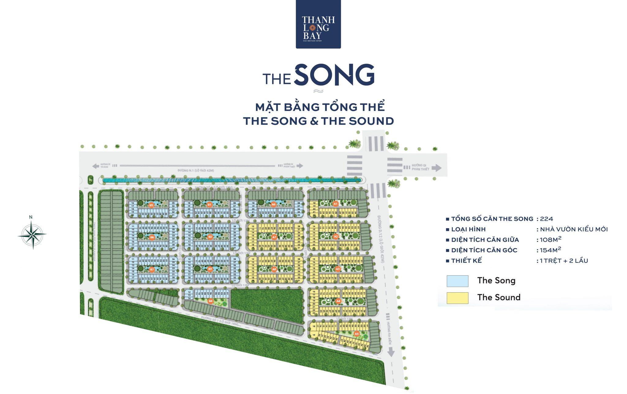 Mặt Bằng Phân khu The Song Thanh Long Bay