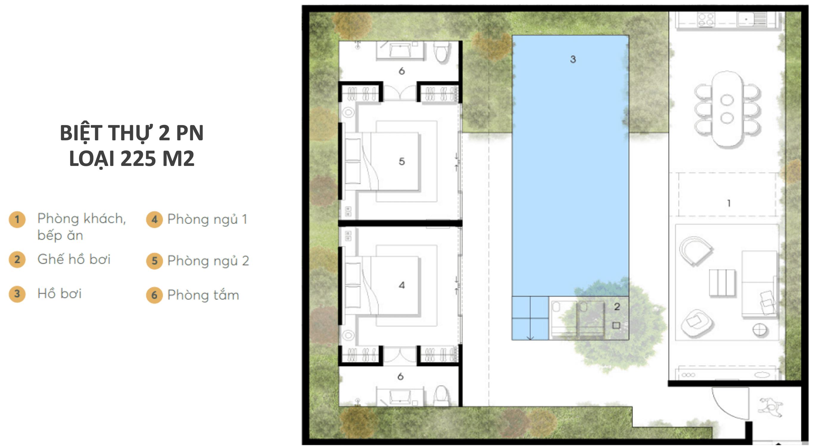 Wyndham Garden Phú Quốc - Dự án Nam Group - Loại 2PN ĐB