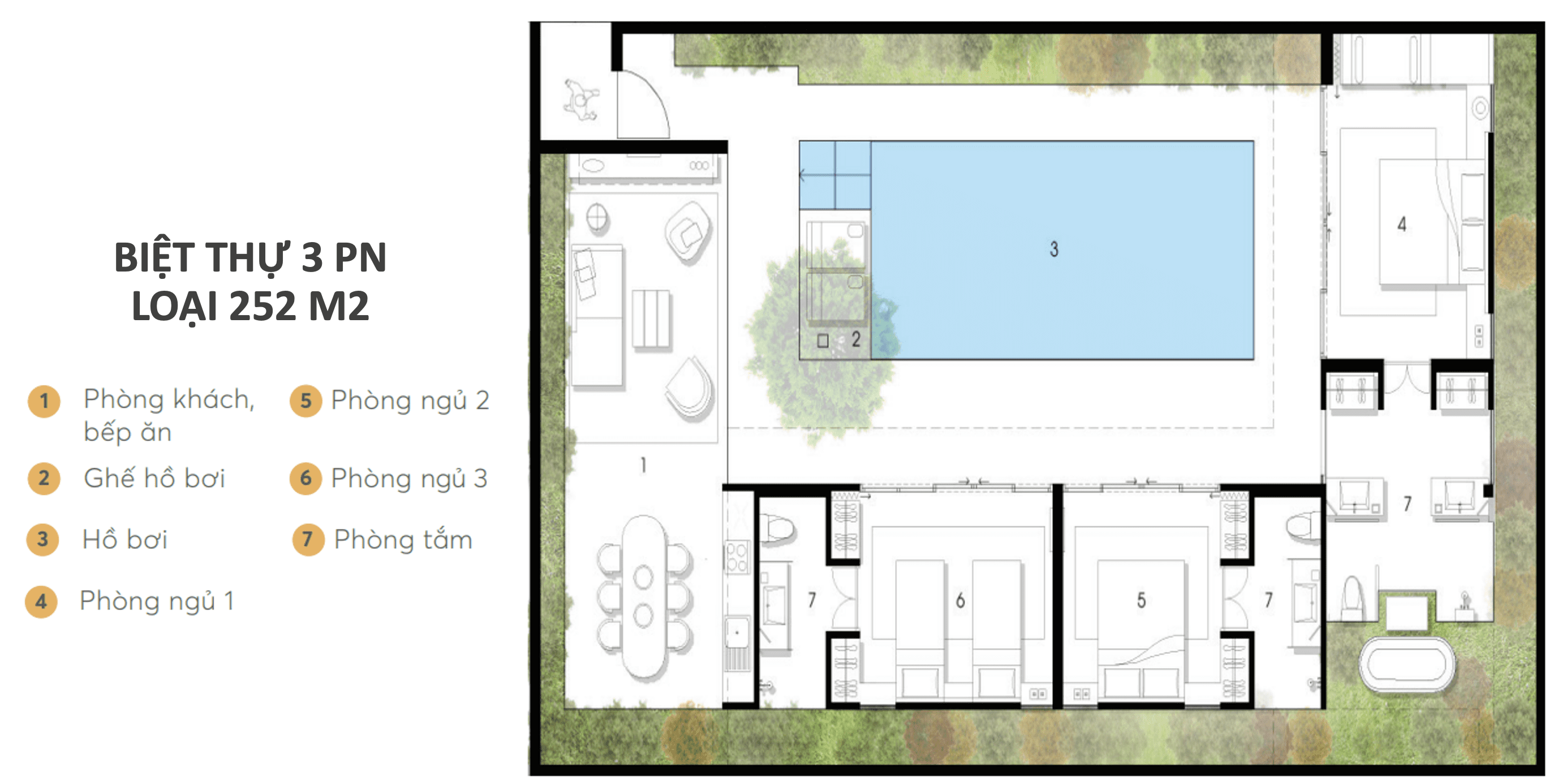 Wyndham Garden Phú Quốc - Dự án Nam Group - Loại 3PN